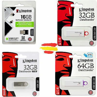 Pendrive Kingston Memoria Usb 3.0 2.0 Pen Drive 8 16 32 64 8Gb 16Gb 32Gb 64Gb Gb