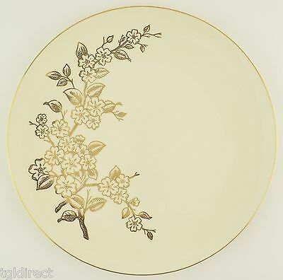 Edwin M. Knowles Apple Blossom China Dinner Plate 22 Karat Gold Tableware Floral