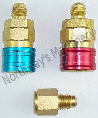 2 Items CBI QC12 R134a Quick Couplers with LX84 Tank Adpater