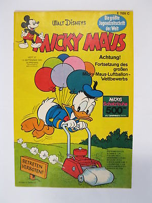 Micky Maus 1969/37  Originalheft vom 13.9. 69  in Z (1  /+KS) 57910