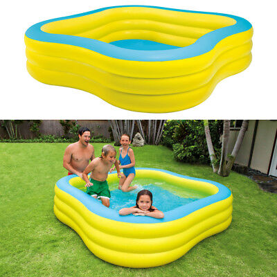 INTEX Swim Center 229x229x56cm Swimming Pool Planschbecken Kinderpool Gelb