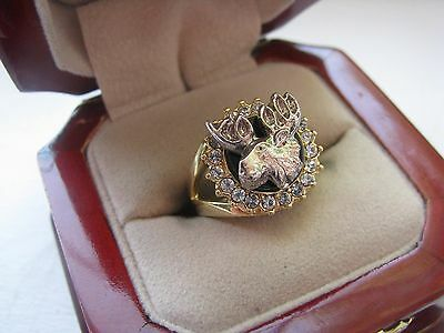 "Superb NEW Ladies ""Moose Club"" Wife's Crest Ring *"