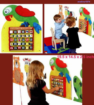 Anatex PWP9029 Parrot Wall Panel, Children, Willingness to Developing Game, ABC
