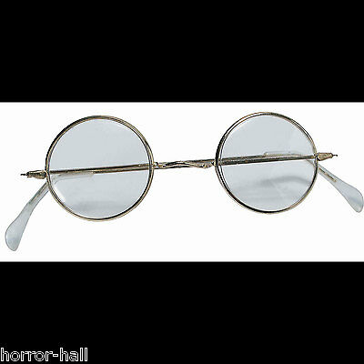 Cosplay Steampunk ROUND EYE GLASSES Wire Frame Granny Hippie Costume Accessory