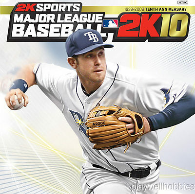 MAJOR LEAGUE BASEBALL 2K10 Microsoft XBox 360 Game - Complete!
