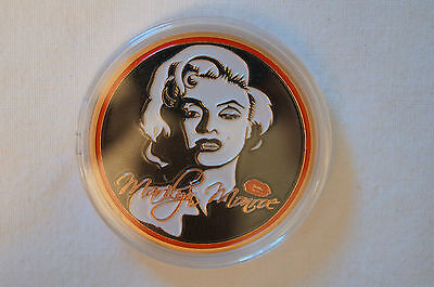 Marilyn Monroe - Hollywood Superstar Gold Plated Coin in Case.