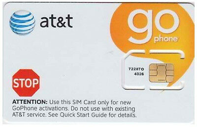 ATT GoPhone Prepaid GSM 3G Phone Iphone2/3GS SIM CARD Non-punched Unactivated