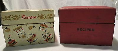 Vtg Antique 2 Boxes Full Of Recipe Cards Over 300 Handwritten Cliped Ohio Art
