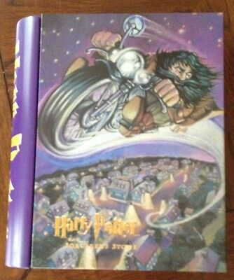 2000 Harry Potter and the Sorcerer's Stone Tin Book Storage Container EUC