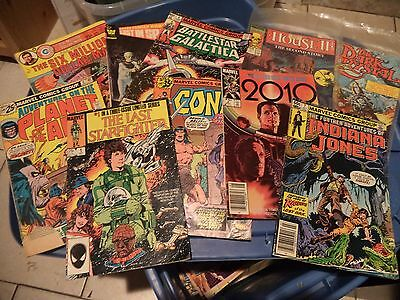 LOT OF 10 TV / MOVIE COMIC BOOKS !!  USED !! AS IS ! GOOD CONDITION ! APES CONAN