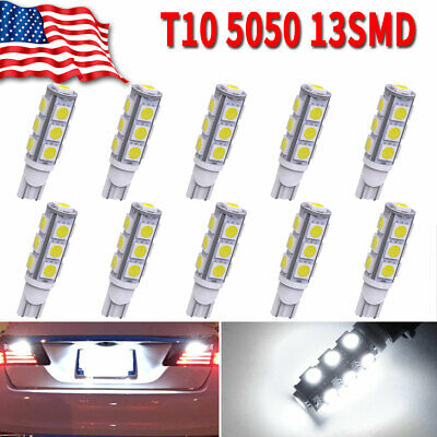 10X Pure Red 42MM 5050 8SMD Festoon LED Interior Dome Map Light Bulb 211-2 212-2