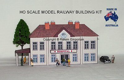 HO Scale Hospital Model Railway Building Kit - HOSP1