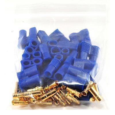 10pairs Male / Female EC3 Style Connector w/ 20pairs 3.5mm Gold Bullet Plug