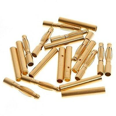 50pairs/lot 2.0mm 2mm Gold Bullet Connector Battery ESC Plug