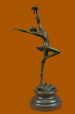 Original Signed Bronze Sculptre Heavenly Flying By Vitaleh Home Decoration Decor