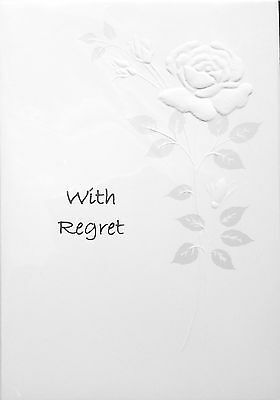 Invitation Regret Card ~ With Regret ~ Luxury Card ~ Special