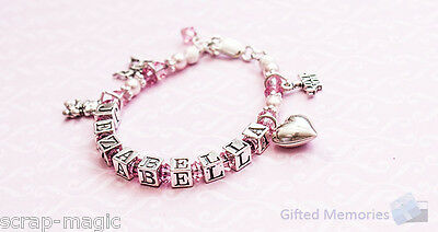 Personalised Name Bracelet - 'Sugar and Spice'- Gift for girls birthday
