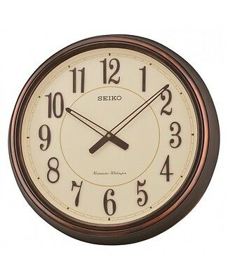 Seiko QXD212B Antique Copper Westminster Dual Chimes 3D Vintage Wall Clock New