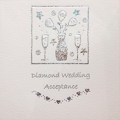 Diamond Wedding Invitation Acceptance Card ~ Luxury Card ~ Special