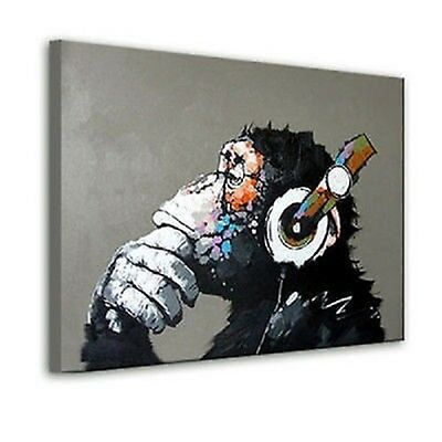 NO Framed! MODERN ABSTRACT LARGE WALL ART OIL PAINTING ON CANVAS:Monkey