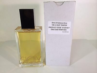 SICILY 3.4 OZ EDP SPRAY TESTER FOR WOMEN BY DOLCE & GABBANA HARD TO FIND (RARE)