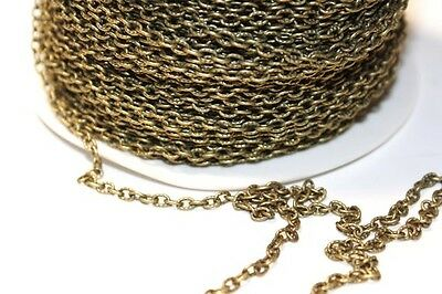15ft 3x4mm Antique Brass Cable Chain jewelry making 1-3 day Shipping