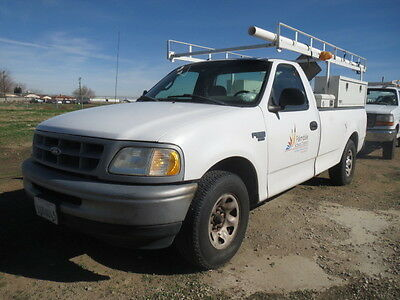 Ford : F-250 F250 Lariat 2 DR 1998 ford f 250 lariat w ladder rack and service boxes runs