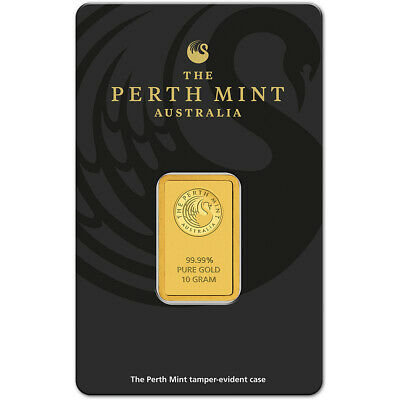 10 gram Gold Bar - Perth Mint - 99.99 Fine in Assay