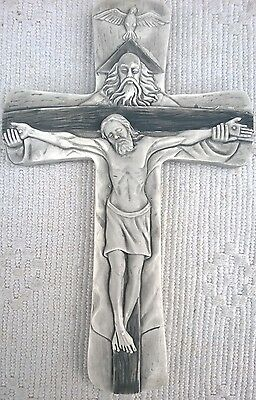Wall Hanging cross Holy Trinity Father Son Holy Spirit crucifix  10.25''