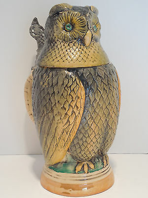 Vintage Western Germany Stoneware Pottery Lidded Beer Stein E&R Golden Crown Brw