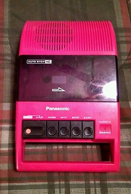 Vintage Red Panasonic Cassette Player Tape Recorder NOT WORKING RQ-44A Portable