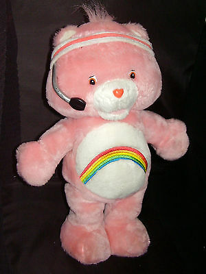 """2004 """"Let's Get Physical"""" Singing Dancing 14"""" Exercise Cheer Care Bear Pink"""