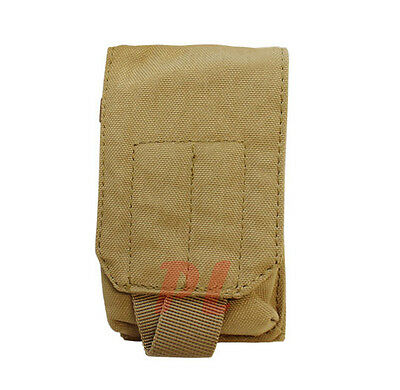 Molle Tactical TECH SHEATH Pouch  Case Cover GPS Cell Phone Case Cover-TAN