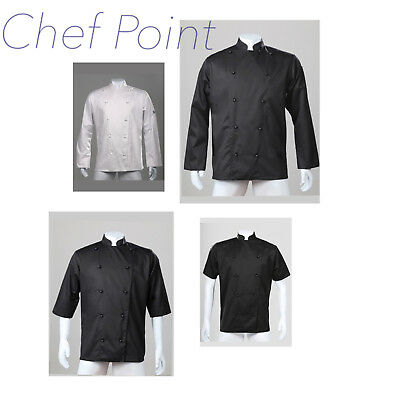 2 X Traditional Chef Jacket Short Sleeve/ Long Sleeve,Unisex, Chef Armour ( Ca )