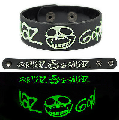 GORILLAZ Rubber Bracelet Wristband Glows in the Dark