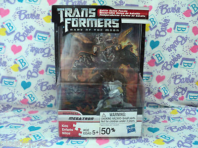 NEW Transformers Dark of the Moon MEGATRON 50 Piece Puzzle w/ Figure & Display