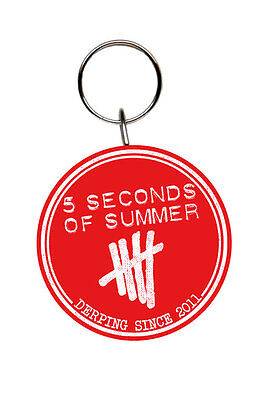 5 Seconds Of Summer - Rubber Keychain / Key Ring (Logo - Derping Since 2011)
