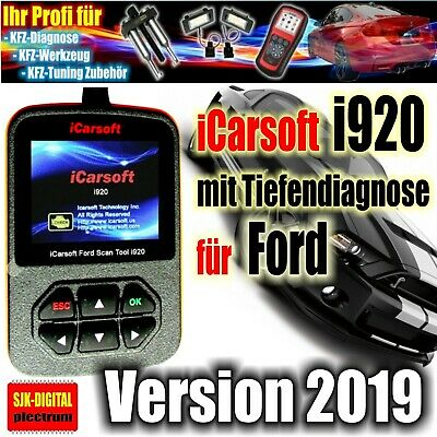 i920 iCarsoft OBD2 Diagnosegerät für FORD Tiefendiagnose ABS Airbag Motor +++