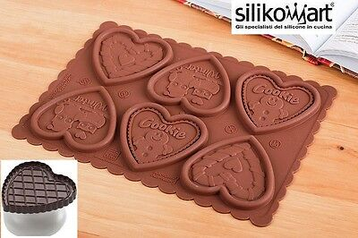 Ckc03 Cookie Hearts Cuore Kit Slim Silikomart Stampo Biscotti Timbro