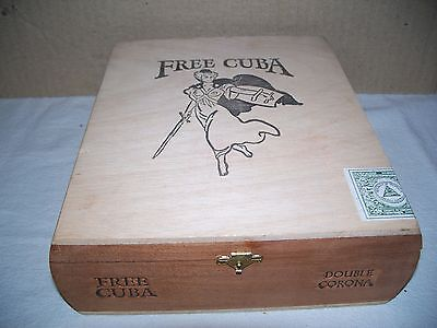 vintage unique wooden cigar box Free Cuba