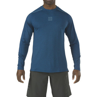 5.11 Recon Triad Mens Gym Workout Shirt Tactical Long Sleeve Fitness Top Valiant