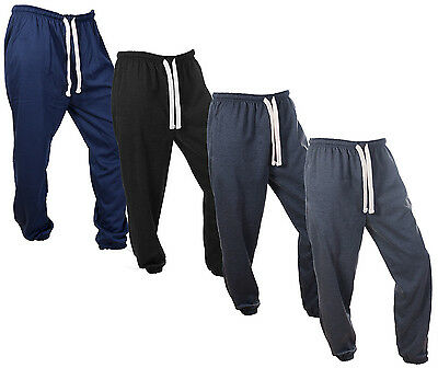 Mens Jogging Pants Fleecy Tracky Joggers Gym Tracksuit Fleece Jog Bottoms Size