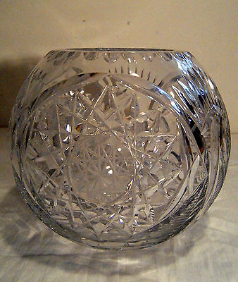 American Brilliant Cut Crystal Glass Vase - Large and Heavy