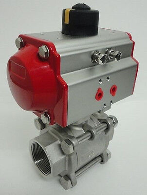 """1/2"""" 3 - Piece Pneumatic Actuated Ball Valve (Double acting)"""