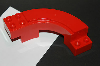 Lego Fabuland 2046 Escalier Staircase Red Rouge Enclosed Curved du 3683 3674 F1