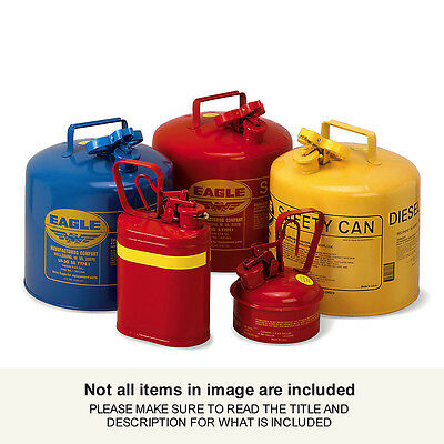 """UI20S EAGLE Type I Safety Can -11-1/4"""" Dia.x19-1/2""""H - 2-Gallon Capacity - For F"""