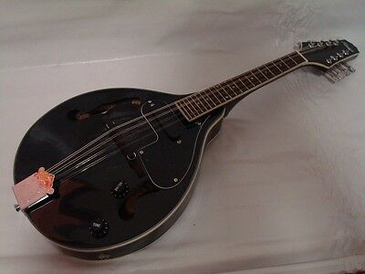 Free Gig Bag, A-Style Acoustic Electric Mandolin, Black