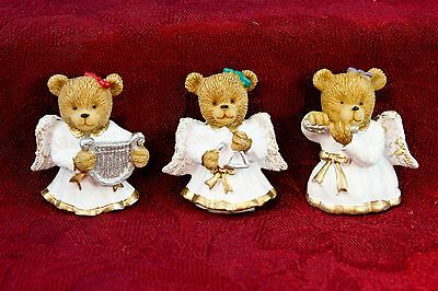 3 pc Teddy Bear Angel Button Cover Set Christmas Holiday Clothing Accessory  B6