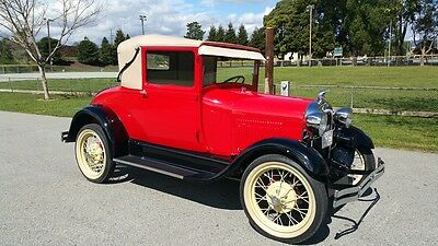 Ford : Model A Sport Coupe with Landau Top 1928 ford model a sport coupe