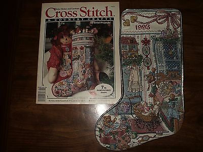 """COMPLETE CROSS STITCH & COUNTRY CRAFT HEIRLOOM CHRISTMAS STOCKING """"SUGAR N SPICE"""